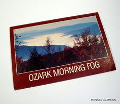 Ozark Morning Fog Mountains Unused Vintage by AntiquesGaloreGal