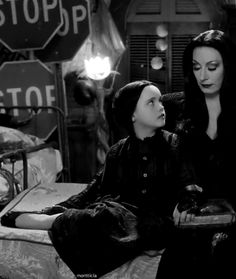 """Source: Shadow's Darkness. (The Addams Family, Mortisha & Wednesday.) """"Please click photo to save the blogger. I'm doing some major cleaning to my boards. With over 400 boards and been on here since the beginning of Pinterest. I've accumulated a lot of stuff and some are bad links. So please don't follow or like, just go to source till I'm finished. Thank you."""" Quote by Blonde in Pic."""