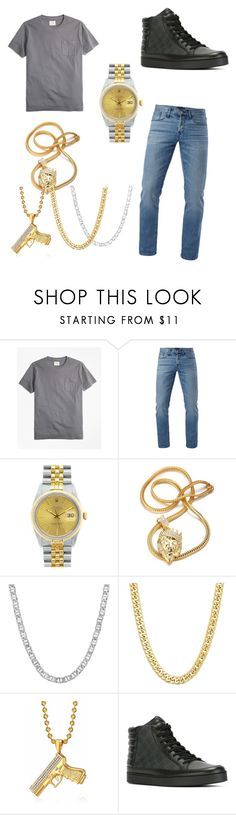 """Lil Yatchy/Lil Boat"" by liyahbear753 ❤ liked on Polyvore featuring Brooks Brothers, 3x1, Rolex, Gucci, men's fashion and menswear"