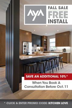 Don't miss out on these huge savings! Kitchen Cabinetry, Kitchen Reno, New Kitchen, Kitchen Design, Kitchen Cabinet Manufacturers, Design Consultant, Service Design, Kitchens, Design Ideas