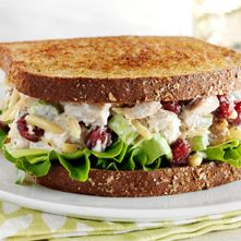 Chicken Salad....could sub greek yogurt for the mayo and use unsweetened dried cherries to make it clean.