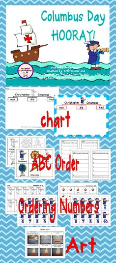 Columbus Day pack that is perfect for Kinders!