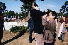 "Tatsuo Kimura demonstrating aiki-age.  Kimura sensei is a long time member of the Sagawa-ha Daito-ryu and was a senior student of Yukiyoshi Sagawa.  Kimura sensei authored the book, ""Transparent Power.""  Excellent read."