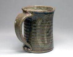 Pottery Coffee Mugs Stoneware Cup Celedon Green by Artifactorium