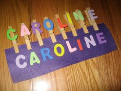 Name Game Busy Bag Clothespins Felt and por KeepingMyKiddoBusy