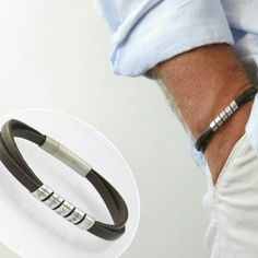 Mens personalized bracelet the best gift for a beloved man.