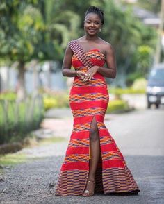 Look Stunning, Slinky & Hot With The Latest Kente Styles African Wedding Dress, Latest African Fashion Dresses, African Dresses For Women, African Print Dresses, African Attire, Ankara Fashion, African Dress Styles, African Style, African Women