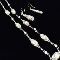 """Brighton necklace  & earrings set   Brighton necklace  & earrings set  Gently used - great condition. Necklace 17"""" long Brighton Jewelry Necklaces"""