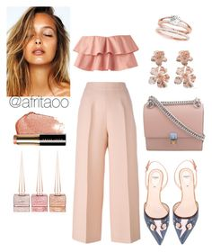 """""""Sin título #251"""" by afritaoo ❤ liked on Polyvore featuring Fendi, Oscar de la Renta, Bobbi Brown Cosmetics and Christian Louboutin"""