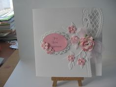 pink & white using marianne design creatables die