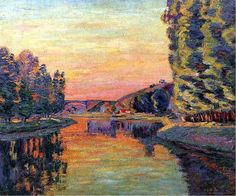 Moret-sur-Loing by Armand Guillaumin 1902