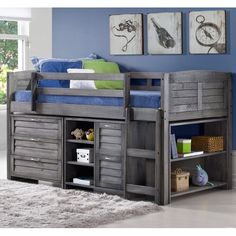 You'll love the Evan Twin Low Loft Slat Bed with Bookcase, Chest and Shelves and Drawer Chest at Birch Lane - With Great Deals on all products and Free Shipping on most stuff, even the big stuff.