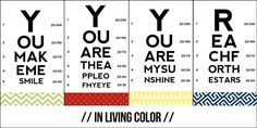 Download these FREE uplifting + inspiring eye exam note cards! with color, or just black + white!