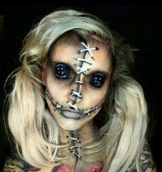 Creepy Rag Doll Makeup