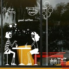 Quality Coffee Shop Sticker Girl Milk tea Decal Cafe Cup Poster Vinyl Art Wall Decor Mural Decoration Bread Coffee Break Glass Decals with free worldwide shipping on AliExpress Mobile Cafe Restaurant, Cama Design, Glass Sticker Design, Cafe Cup, Cafe Window, Cafe Wall, Cafe Interior Design, Coffee Shop Design, Window Stickers
