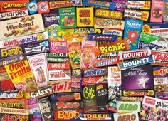 Gibsons Games produce the UK's largest range of premium quality puzzles and games. Sweet Memories, Childhood Memories, 1980s Childhood, 80s Sweets, Fruit Pastilles, Caramac, Nestle Chocolate, Chocolate Bars, Coconut Chocolate