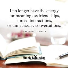 """""""Joquesse Eugenia: I no longer have the energy for meaningless friendships,..."""" by Joquesse Eugenia"""