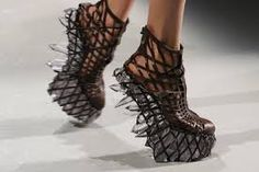 Iris van Herpen - Fall 2013 Couture 3D Printed shoes - Google Search
