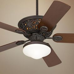 "I'm considering this 52"" Casa Vieja Costa Del Sol Ceiling Fan with Light for my bedroom. I love the artistic accents that give this fan style. I also love the unique shape of the light."