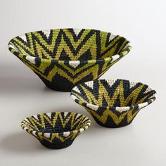 One of my favorite discoveries at WorldMarket.com: Lime and Black Shield Baskets