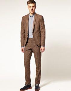 Slim Fit Brown Suit | My Dress Tip