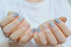 Here are the 10 most popular nail polish colors at OPI - My Nails Pink Nails, My Nails, Pastel Blue Nails, Baby Blue Nails, Trendy Nail Art, Manicure E Pedicure, Manicure Ideas, Gel Nail Designs, Nails Design