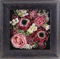 Diy dried flowers shadow box window types shadow box and window pav floral art keepsake 10 freeze frame it flower head filled frame junglespirit Images