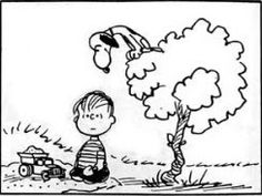 Snoopy playing vulture.