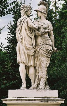 Janus and Bellona by Johann Wilhelm Beyer, 1773–80, Schönbrunn