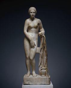 Unknown, Statuette of Venus (Venus de Clerq), Roman, 175 - 200, Marble with polychromy, 97.2 x 33 x 20.3 cm (38 1/4 x 13 x 8 in.