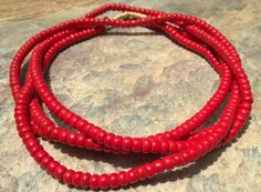 African Padre Beads  Old African Trade Beads Red by RedEarthBeads, $16.00