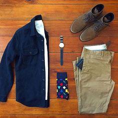 @chrismehan Boots: @thursdayboots Watch: @threadetiquette Wallet: @wurkinstiffsinc Socks: @happysocks Chinos: @grayers #grayers #thursdayboots #MensTee @freshcleantees #jcrewmens Shirt jacket: @jcrewmens #chinos #mensapparel #mensstyle #mensjeans #mensjacket #mensfashion #mensgoods #mensstyleguide @mallenpics