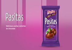 Pasitas Ricolino Choco-Bitz Mexican Candy, Gastronomia, Chocolate Covered, Wedding