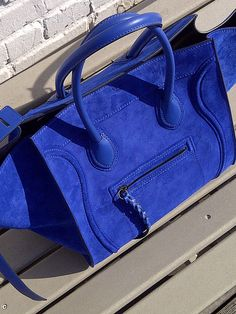 MY DREAM. So upset I decided not to buy it in Paris...... Celine Phantom Blue Suede