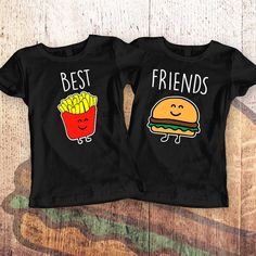 Best Friends Women Shirts Burger and Fries by SayYouLoveMeGifts