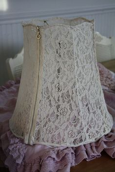 The Spanish Dahlia - Lace Blouse Lampshade Tutorial
