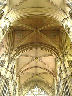 Glorious vaulted roof of the chancel in Beverley Minster.