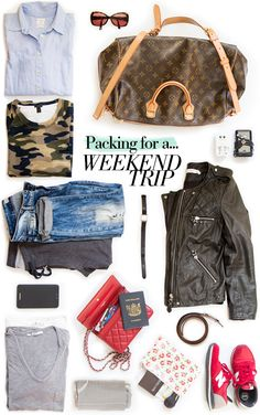 Ever felt cumbersome lugging a suitcase on a weekend away? Here are a few suggestions which may help you take the pain out of packing...
