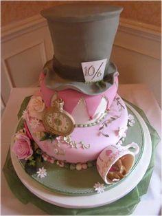 Wedding Cake, Alice In Wonderland Wedding Shower Cake Idea: Wedding Shower Cake Ideas