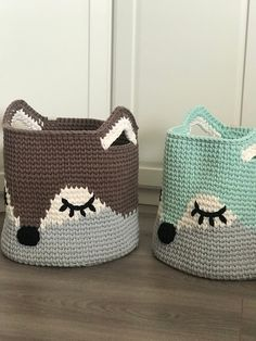 Crochet Fox, Crochet Gifts, Crochet Animals, Crochet Basket Pattern, Crochet Patterns, Diy Crochet Basket, Fox Nursery, Animal Nursery, Nursery Room