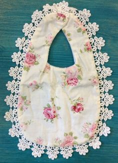 Miss Rose Sister Violet (Light Pink) | Floral Baby Bib