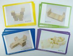 Vorlagen zum Bauen mit den Spielgaben von Fröbel- für Spielgabe 3, Spielgabe 4, Spielgabe 5, Spielgabe 6