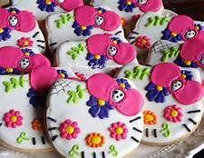 Obsessed!!!! Hello Kitty sugar skull cookies