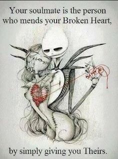 Jack and Sally, Nightmare before Christmas....sweet....but also creepy....i love it!!!