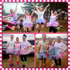 Our very first color run was awesome! This was a fundraiser for the Cystic Fibrosis Foundation.