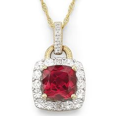 Birthstone Lab Created Ruby Pendant - jcpenney
