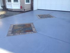 Before. Photos courtesy of Kevin Brown of Kb Concrete Staining, CA.  855-552-6815 Kevin used NewLook's SmartColor in 'Licorice' to fix a previously stained concrete driveway. Thanks, Kevin! www.store.getnewlook.com. Don't forget to use the promo code 10OFF on your next purchase of SmartColor to recieve a 10% discount! Hurry, Promo ends 9/15/12. Stained Concrete Driveway, Concrete Dye, Concrete Staining, Concrete Coatings, Concrete Driveways, Kevin Brown, Before And After Pictures, Don't Forget, Tile Floor