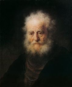 van Rijn Rembrandt - tête d'étude d'une personne âgée
