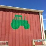 Green Tractor on Red Barn Fairhope Alabama, Summer 2015, Tractor, Barn, Couple, Green, Converted Barn, Tractors, Couples
