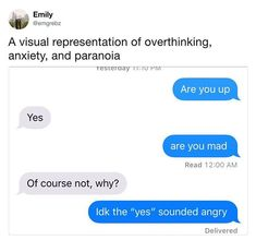 Will you overthink when there's no emoji? - By emgrebz | TW - #9gag  #emoji